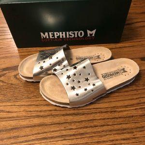 NWT Mephisto Nora Star Nickel Star Silver Sandals